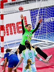 06-12-2019 JAP: Serbia - Slovenia, Kumamoto<br /> last match groep A at 24th IHF Women's Handball World Championship. / Branka Zec #1 of Slovenia