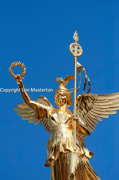 The Siegessaule column or Victory Column in Tiergarten Berlin Germany