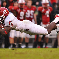 Sep 26, 2009; College Park, MD, USA; in Rutgers' 34-13 victory over Maryland in NCAA college football at Byrd Stadium.