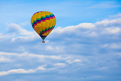 United States, Arizona, Sedona, hot air balloon in sky
