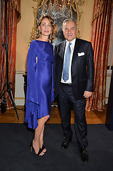 ANDREA BUCCELLATI and MARIA-CRISTINA BUCCELLATI at an evenig of Jewellery & Photography to launch the Buccellati 'Opera Collection' held at Spencer House, London on 21st October 2015.