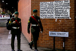 Servicemen arrive at Bramall Lane ahead of Sheffield United v Sheffield Wednesday in the Sky Bet Championship - Mandatory by-line: Robbie Stephenson/JMP - 09/11/2018 - FOOTBALL - Bramall Lane - Sheffield, England - Sheffield United v Sheffield Wednesday - Sky Bet Championship