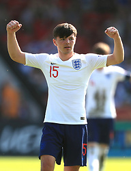 England U17's Bobby Duncan during the UEFA European U17 Championship, Group A match at Banks's Stadium, Walsall. PRESS ASSOCIATION Photo. Picture date: Monday May 7, 2018. See PA story SOCCER England U17. Photo credit should read: Mike Egerton/PA Wire. RESTRICTIONS: Editorial use only. No commercial use.