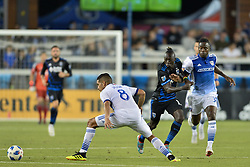August 29, 2018 - San Jose, California, United States - San Jose, CA - Wednesday August 29, 2018: Dominic Oduro during a Major League Soccer (MLS) match between the San Jose Earthquakes and FC Dallas at Avaya Stadium. (Credit Image: © John Todd/ISIPhotos via ZUMA Wire)