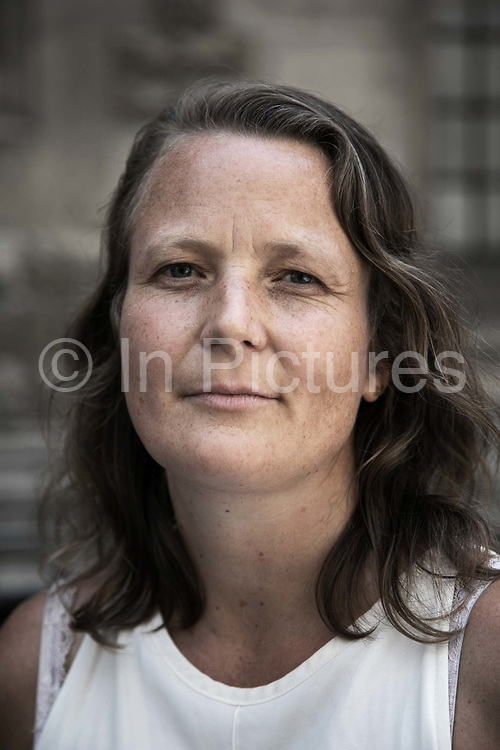 Natasha Doane, one of the six defendants outside the High Court, Central London, United Kingdom June 3rd 2018. The oil and gas company UKOG has taken out an injuction aginst protests at their drilling site in Surrey and Sussex. Six women from Surrey and Sussex are opposing the application for the interim injunction which aims to stop certain forms of protest at UKOG sites. They say their right to peaceful protest will be stifled by the injunction, which is in breach of their human rights. The appeal against the injuction is taking place in the High Court, Central London Tuesday June 3rd with a verdict expected Thursday June 5th.