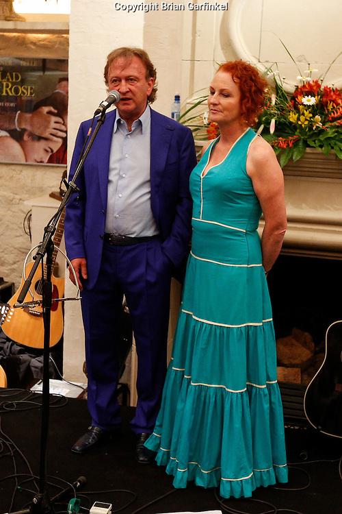 Sean and Bernadine Mulryan speak at the Mulryan/Caulfield family reunion at Ardenode Stud, County Kildare, Ireland on Sunday, June 23rd 2013. (Photo by Brian Garfinkel)