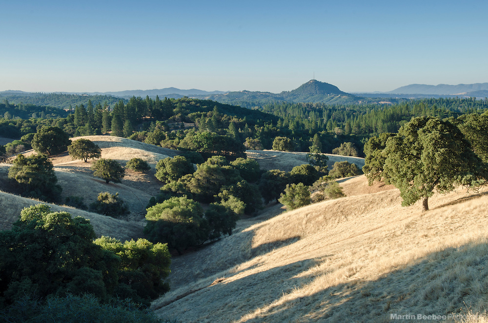 The view of Jackson Butte from Ridge Road, Amador County, California