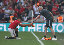 May 19, 2018 - London, England, United Kingdom - Manchester United's Alexis Sanchez new boots.during the The Emirates FA Cup Final match between Chelsea and Manchester United  at Wembley, London, England on 19 May 2018. (Credit Image: © Kieran Galvin/NurPhoto via ZUMA Press)