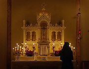 Benedictines of Mary Queen of Apostles, a cloistered group of nuns in Missouri, chant and  pray during exposition, vespers and rosary in their chapel. © Karen Pulfer Focht-ALL RIGHTS RESERVED-NOT FOR USE WITHOUT WRITTEN PERMISSION