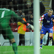 Croatia's Ivica OLIC (R) during their UEFA EURO 2012 Play-off for Final Tournament First leg soccer match Turkey betwen Croatia at TT Arena in Istanbul Nüovember11, 2011. Photo by TURKPIX