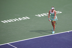 March 10, 2019 - Indian Wells, CA, U.S. - INDIAN WELLS, CA - MARCH 10: Kateryna Kozlova (UKR) prepares to serve during the BNP Paribas Open on March 10, 2019 at Indian Wells Tennis Garden in Indian Wells, CA. (Photo by George Walker/Icon Sportswire) (Credit Image: © George Walker/Icon SMI via ZUMA Press)