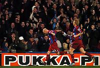 Photo: Javier Garcia/Back Page Images Mobile 07887 794393<br />03/01/2005 Crystal Palace v Aston Villa, FA Barclays Premiership, Selhurst Park<br />Andy Johnson celebrates after making it 2-0