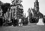 20/08/1967<br /> 08/20/1967<br /> 20 August 1967<br /> Unveiling of Memorial to Thomas Ashe, Peadar Kearney and Piaras Béaslaí at Glasnevin Cemetery, Dublin. General Richard Mulcahy, reading the address  before the unveiling.