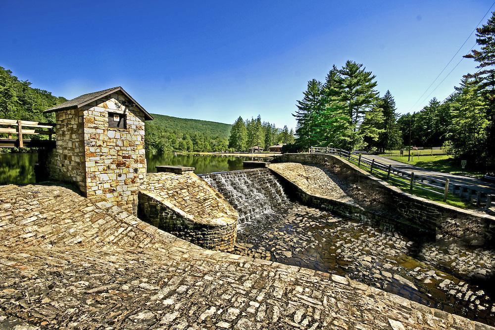 Greenwood Furnace State Park, Huntingdon Co., PA Greenwood Lake Spillway