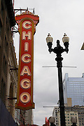 Chicago Illinois USA, theatre district The Chicago theatre. October 2006