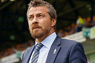 Fulham First Team Head Coach Slavisa Jokanovic during the EFL Sky Bet Championship match between Ipswich Town and Fulham at Portman Road, Ipswich, England on 26 August 2017. Photo by Phil Chaplin.