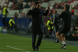 December 5, 2017 - Lisbon, Lisbon, Portugal - Fc Basel head coach Raphael Wicky from Switzerland celebrating the first goal of the team during the match between SL Benfica v FC Basel UEFA Champions League playoff match at Luz Stadium on December 5, 2017 in Lisbon, Portugal. (Credit Image: © Dpi/NurPhoto via ZUMA Press)