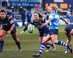 George Roberts of DMP Durham Sharks box kicks - Mandatory by-line: Nick Browning/JMP - 09/01/2021 - RUGBY - Sixways Stadium - Worcester, England - Worcester Warriors Women v DMP Durham Sharks - Allianz Premier 15s