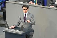 DEU, Deutschland, Germany, Berlin, 23.04.2021: Deutscher Bundestag, Dr. Christoph Ploß (CDU) bei einer Rede in der Plenarsitzung.