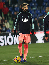 January 6, 2019 - Getafe, Madrid, Spain - Pique of Barcelona in action during the spanish league, La Liga, football match between Getafe and Barcelona on January 06, 2019 at Coliseum Alfonso Perez in Getafe, Madrid, Spain. (Credit Image: © AFP7 via ZUMA Wire)