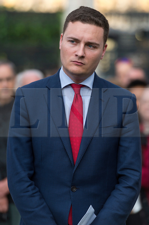 © Licensed to London News Pictures. 17/06/2016. Labour party politician WES STREETING attends a two minutes silence with well wishers in Parliament Square in memory of Labour party MP JO COX. She was allegedly attacked and killed by suspect 52 year old Tommy Mair close to Birstall Library near Leeds. London, UK. Photo credit: Ray Tang/LNP