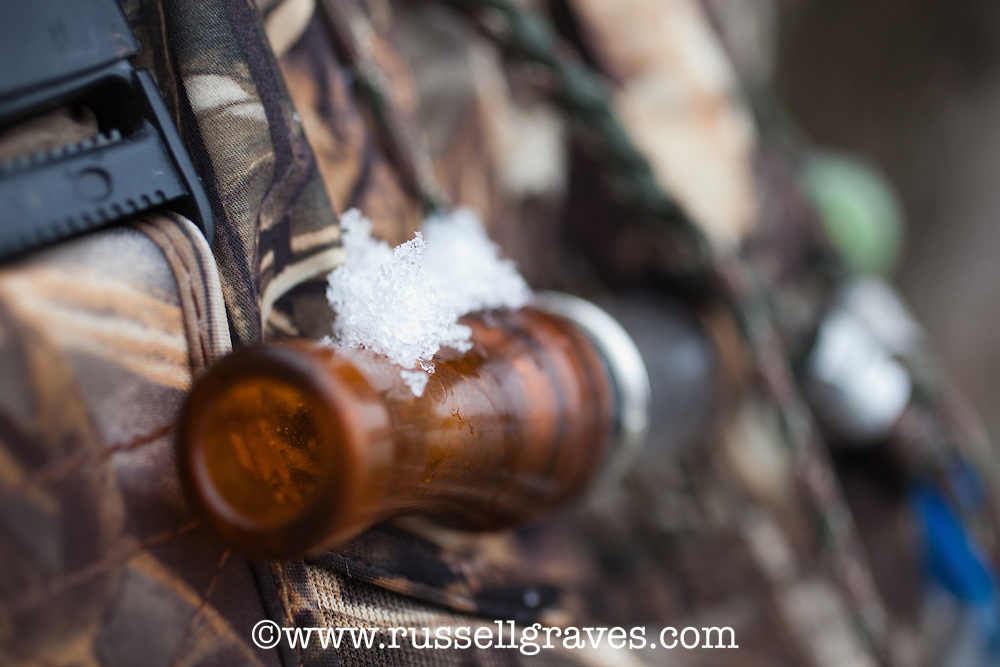 snow dusted duck call