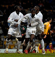 Photo: Jed Wee/Sportsbeat Images.<br /> Bradford City v Hereford United. Coca Cola League 2. 29/12/2007.<br /> <br /> Hereford celebrate with goalscorer Theo Robinson (C) after he opens the scoring.