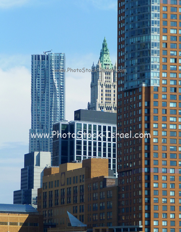High rise building in downtown New York City, NY, USA