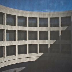 The Hirshhorn Museum on the National Mall in Washington, DC.