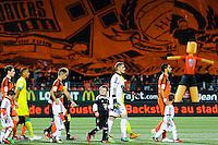 Presentation des equipes avant match / tifo supporters Lorient  - 20.12.2014 - Lorient / Nantes - 19eme journee de Ligue 1 -<br /> Photo : Vincent Michel / Icon Sport