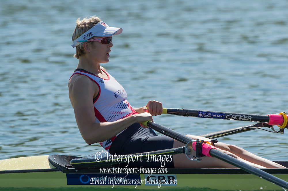 Caversham. Reading. GBR W2X, Bow Vicky THORNLEY, GBRowing  European Team Announcement, GB Training Base Reading. 13.05.2015. Wednesday. [Mandatory Credit: Peter Spurrier/Intersport-images.com