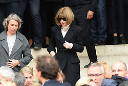 Anna Wintour leaving the funeral service for late photographer Peter Lindbergh held at Saint Sulpice church in Paris, France on September 24, 2019. Photo by ABACAPRESS.COM