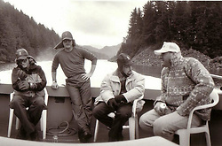 """Charlie Sheen releases a photo on Instagram with the following caption: """"\u202aKetchikan exhaled,\u202c\n\u202awhile the sheen,\u202c\n\u202ainhaled perfect wisdom...\u202c \u202a(r.i.p. JG)\u202c \u202ax\u202c \u202a\u00a9\u202c"""". Photo Credit: Instagram *** No USA Distribution *** For Editorial Use Only *** Not to be Published in Books or Photo Books ***  Please note: Fees charged by the agency are for the agency's services only, and do not, nor are they intended to, convey to the user any ownership of Copyright or License in the material. The agency does not claim any ownership including but not limited to Copyright or License in the attached material. By publishing this material you expressly agree to indemnify and to hold the agency and its directors, shareholders and employees harmless from any loss, claims, damages, demands, expenses (including legal fees), or any causes of action or allegation against the agency arising out of or connected in any way with publication of the material."""