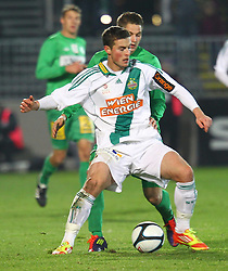 26.11.2011, Pappelstadion, Mattersburg, AUT, 1. FBL, SV Mattersburg vs SK Rapid, im Bild Christopher Drazan, (SK Rapid Wien, #19) vs. Thorsten Roecher, (SV Mattersburg, #27)  during the Austrian Bundesliga Match, SV Mattersburg against SK Rapid, Stadium, Pappelstadion Mattersburg, Austria on 2011-11-26, EXPA Pictures © 2011, PhotoCredit: EXPA/ S. Woldron