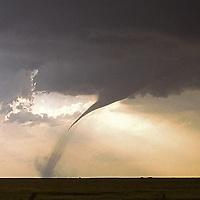 Developing tornado in southern Kansas.