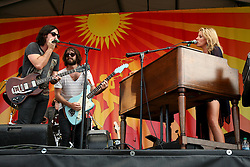 04 MAy 2012. New Orleans, Louisiana,  USA. .New Orleans Jazz and Heritage Festival. .Grace Potter and the Nocturnals take to the Acura stage..Photo; Charlie Varley.