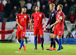 Jordan Henderson of England gives his teammates encouragement - Mandatory by-line: Robbie Stephenson/JMP - 11/10/2016 - FOOTBALL - RSC Stozice - Ljubljana, England - Slovenia v England - World Cup European Qualifier