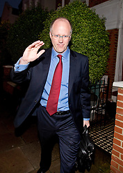 © London News Pictures. File picture dated 23/10/2012. London, UK.  Director General of the BBC George Entwistle leaving his home in South London on October 23, 2012 before giving  evidence to the Commons Culture Committee on the BBC's response to the Jimmy Savile affair.. Photo credit: Ben Cawthra/LNP