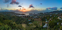 Luftaufnahme von St. Georges, Grenada, Karibik, Karibisches Meer / Aerial View of St. George's, Grenada, Caribbean Sea