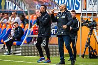 1. divisjon fotball 2018: Aalesund - Mjøndalen. Aalesunds assistenttrener Andrea Loberto (t.v.) og trener Lars Bohinen i førstedivisjonskampen i fotball mellom Aalesund og Mjøndalen på Color Line Stadion.