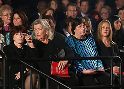 Three of the four woman who sat with Donald Trump in a press conference and made several accusations against Bill and Hillary Clinton -- Kathleen Wiley Photo by left), Juanita Broaddrick Photo by center), and Kathy Shelton -- attend the presidential debate on Sunday, October 9, 2016 at Washington University in St. Louis, Mo. Photo by Christian Gooden/St. Louis Post-Dispatch/TNS/ABACAPRESS.COM