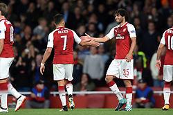 Mohamed Elneny of Arsenal celebrates Alexis Sanchez's goal - Mandatory by-line: Patrick Khachfe/JMP - 14/09/2017 - FOOTBALL - Emirates Stadium - London, England - Arsenal v Cologne - UEFA Europa League Group stage