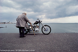 Old Man by the Sea. England 1984<br /> <br /> Limited Edition Print from an edition of 20. Photo ©1984 Michael Lichter.