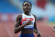 Daryll Neita winning the 100m heat race.The British Championships 2016, athletics event at the Alexander Stadium in Birmingham, Midlands  on Friday 24th June 2016.<br /> pic by John Patrick Fletcher, Andrew Orchard sports photography.