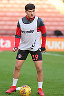 Charlton Athletic midfielder Albie Morgan (19)  in warm up during the EFL Sky Bet League 1 match between Barnsley and Charlton Athletic at Oakwell, Barnsley, England on 29 December 2018.