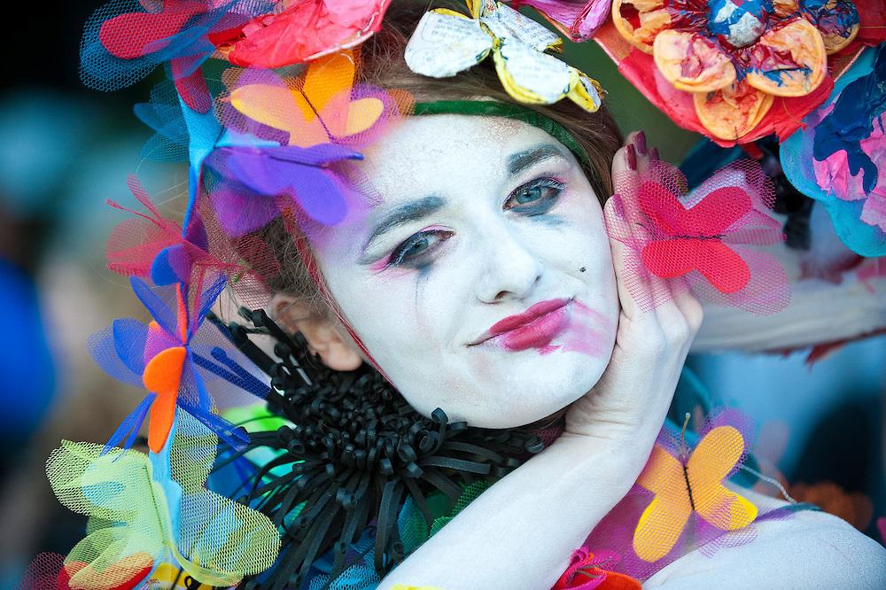Student Fashion on display at Alternative Fashion Week, Spitalfields market, London.