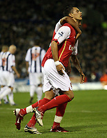 Photo: Rich Eaton.<br /> <br /> West Bromwich Albion v Arsenal. Carling Cup. 24/10/2006. Jeremie Aliadiere scores from the penalty spot