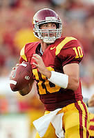 16 September 2006: #10 John David Booty starting quarterback in action during  the USC Trojans college football home opener against the Nebraska Cornhuskers with a 28-10 win over the Big-12 team at the Los Angeles Memorial Coliseum in CA.  Editorial Use Only.