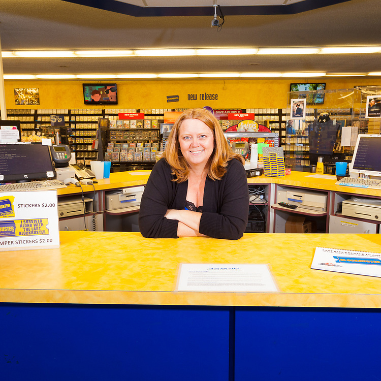 Sandi Harding is the General manager at The last remaining Blockbuster Video store in Bend Oregon