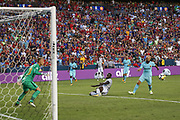 Manchester United Forward Romelu Lukaku misses a chance during the International Champions Cup match between Barcelona and Manchester United at FedEx Field, Landover, United States on 26 July 2017.
